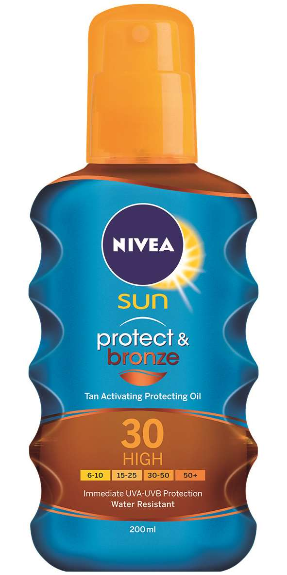 NIVEA Protect & Bronze Barnulást Támogató Napolaj Spray FF 30 200ml 4499Ft